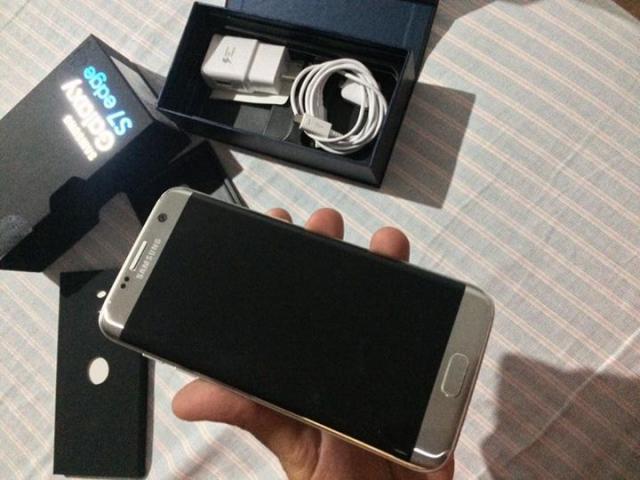 GALAXY S7 EDGE SILVER ESTETICA 10, CAJA USB Y CABLE LIBRE DE FABRICA PARA CUALQUIER COMPAÑIA, SIN PR
