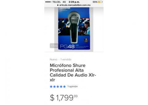 Micrófono shure pg48