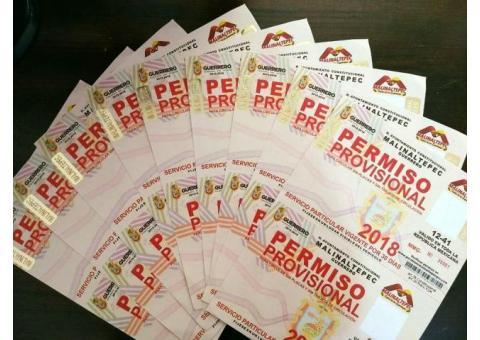 Tramitamos tus placas de Guerrero. CDMX y Morelos en Morelia