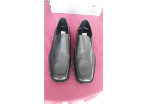 Zapatos Gillio negros piel línea vestir talla 29.5