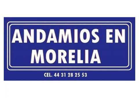 Andamios en Morelia