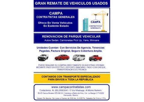 empresa constructora vende Vehiculos en exelente estado
