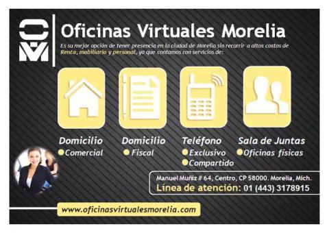 RENTA DE OFICINAS VIRTUALES MORELIA