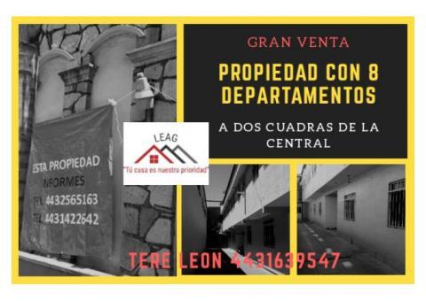 EXCELENTE PROPIEDAD DE 8 DEPARTAMENTOS!!!