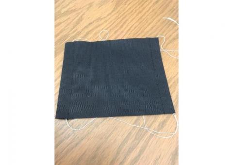 Cubrebocas sencillo una capa sencilla de polipropileno 100%, capa de 70 gms.