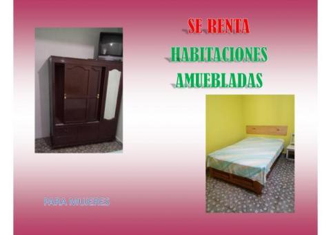 Rento habitación para mujeres