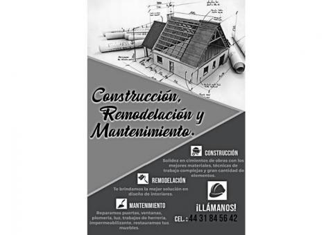 Trabajos de construcción en Morelia