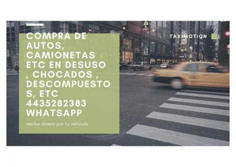 COMPRO AUTOS PARA YONKE