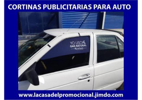 CORTINAS PERSONALIZADAS PARA AUTO PARA CAMPAÑAS