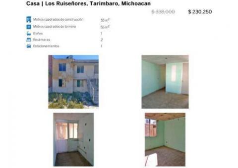 ????$231 MIL PESOS POSESIÓN INMEDIATA????CASA DUPLEX -Los Ruiseñores-Michoacán.