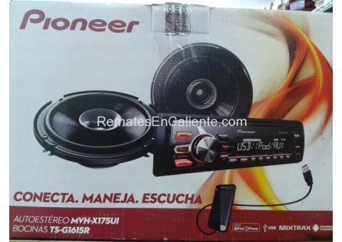 PAQUETE PIONEER ESTEREO CON BOCINAS